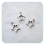Charm estrella mini hueca (10 unidades) CHAOOO-C01129b