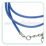 Correa collar algodón encerado 2mm azul marino COR-C64011