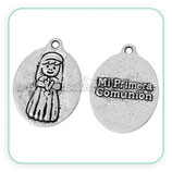 Charm medalla Primera Comunión niña COLOOO-C50930