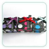 Cajitas de cartón decoradas para anillo(3 unidades)  CAJ-Modelo topos grandes