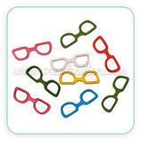 Adorno gafas de madera de colores (5 unidades) AD-C54194