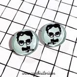 Cabuchón ilustrado - Cine -Groucho Marx