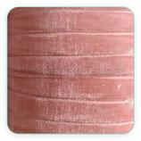 Cinta terciopelo elástico 10mm color Rosa claro pálido