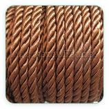 Cordón trenzado de Rayón marrón claro 6mm