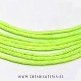 Cordón de Nylon de Escalada Redondo 2mm  amarillo/verde fluor  (3 metros)
