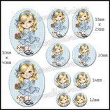 Imagen muñeca vestido azul claro Monotema
