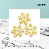 Entrepieza dorada - flor disco plana 7mm - DO1-  ENTOOO-C459 (50 piezas aprox.)