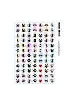 84 Imágenes de gráficos de gatos sobre color 12x12mm