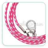 Correa collar algodón encerado 1,5mm rosa y blanco COR-C57862