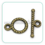 Cierre 024 - barra y aro bronce antiguo ACCCIE-C14510 (20 conjuntos)