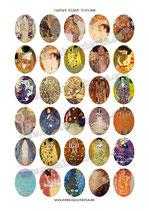 30 Obras Gustav Klimt 30x40mm
