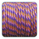Cordón de Nylon de Escalada Redondo 3mm malva y naranja  (3 metros)