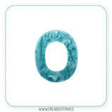 Colgante Resina - Aro  grande ancho agujerito - Pareja (2 unidades)  color