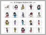 Muñecas de moda MODELO L03b cuadrado