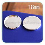 Camafeo 18mm liso plateado calidad suprema SIN ANILLAS CAMBAS-A14623