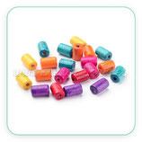Madera abalorio  pequeño tubo largo de color  variado 8x5mm (200piezas) Aba-Mad-C620