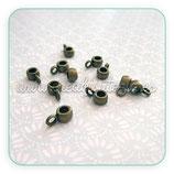 Entrepieza con ASA - EA017- redonda mini bronce antiguo con asa (20 piezas) ENTOOO-R12933