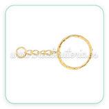 Llavero dorado anilla 20mm LLA-C102418 (10 unidades)