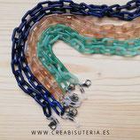 Producto acabado - Cuelgamascarillas o cuelgagafas cadena de eslabones de color