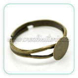 Base anillo bronce antiguo ANI-C17268
