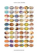 60 Obras Gustav Klimt 18x25mm
