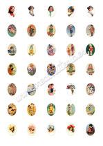 35 Imágenes vintage de niños 18x25mm