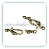 Cierre 020 - barra de nota y aro bronce antiguo ACCCIE-C13323 - 4 unidades