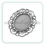 Camafeo oval ornamental plata vieja CAMBAS-CA079Y
