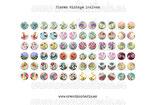 72 Imágenes vintage de flores 14x14mm