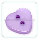 Botones corazón color púrpura BOTOOO-L14 (15 unidades)C11429