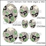 Imagen  monotema Textura floral verde negro y  beis