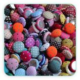 Pack 14 botones forrados de tela de topitos  BOTOOO-L12 (12mm)