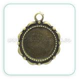 Camafeo ornamental 14mm  bronce viejo  CAMBAS-C25296