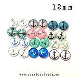 Lote liquidación - Cabus Verano - Anclas -12 mm  - 24 unidades