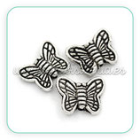 ENT METAL P3 36 mariposa mini plateada rayas (10 unidades) ENTOOO-C24433