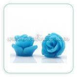 Cabuchón Resina Rosa azul 7x6mm (10UNID)CABOOO-C22570