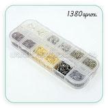 Accesorios - Anillas - caja de 1380 anillas de 4mm tonos variados.