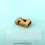 Terminal rectangular liso dorado  1 juego medida 8,5x3mm