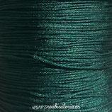 Cordón macramé 1mm  Calidad Suprema  Color Verde Oscuro  (5 metros)