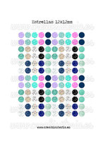 Lámina 120 imágenes de estrellas 12x12mm