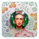 Cabuchón Cristal estampado Frida Kahlo redondo