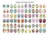 72 Imágenes vintage de flores 13x18mm