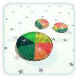 Cabuchón Cristal estampado conjunto QUESITO COLORES 25+12+12