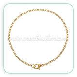 pulsera cadenita con cierre dorada fina ANTIALERGICA - CADCIE-C60457