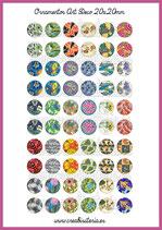 60 Imágenes Ornamentos Art Decó I 20x20mm