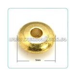 Entrepieza dorada - DO1- 10  donuts latón  5x2mm E246 (50 unidades)