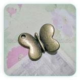 Charm Mariposa 019 - redondita bronce viejo  CHAOOO-R01b