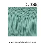 Cordón macramé Gama Deluxe 0,8mm  Color turquesa  (5 metros)