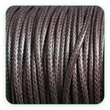 Cordón plastificado color marrón  2mm (4 mtros)