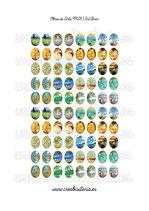 80 Imágenes para camafeos de arte clásico M01  Formato:13x18mm